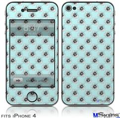 iPhone 4 Decal Style Vinyl Skin - Kearas Daisies Seafoam (DOES NOT fit newer iPhone 4S)