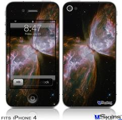 iPhone 4 Decal Style Vinyl Skin - Hubble Images - Butterfly Nebula (DOES NOT fit newer iPhone 4S)