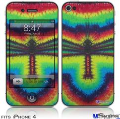iPhone 4 Decal Style Vinyl Skin - Tie Dye Dragonfly (DOES NOT fit newer iPhone 4S)