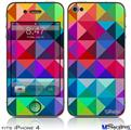 iPhone 4 Decal Style Vinyl Skin - Spectrums (DOES NOT fit newer iPhone 4S)