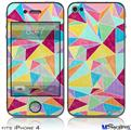 iPhone 4 Decal Style Vinyl Skin - Brushed Geometric (DOES NOT fit newer iPhone 4S)