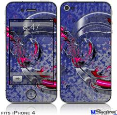 iPhone 4 Decal Style Vinyl Skin - Dragon3 (DOES NOT fit newer iPhone 4S)