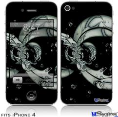 iPhone 4 Decal Style Vinyl Skin - Dragon5 (DOES NOT fit newer iPhone 4S)