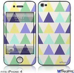 iPhone 4 Decal Style Vinyl Skin - Triangles Cool (DOES NOT fit newer iPhone 4S)