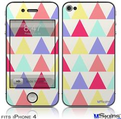 iPhone 4 Decal Style Vinyl Skin - Triangles Light (DOES NOT fit newer iPhone 4S)