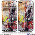 iPhone 4 Decal Style Vinyl Skin - Abstract Graffiti (DOES NOT fit newer iPhone 4S)
