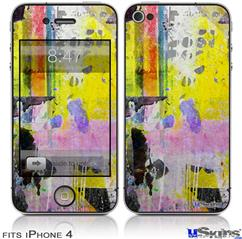 iPhone 4 Decal Style Vinyl Skin - Graffiti Pop (DOES NOT fit newer iPhone 4S)