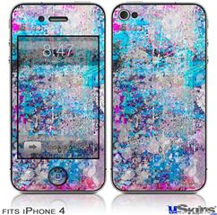 iPhone 4 Decal Style Vinyl Skin - Graffiti Splatter (DOES NOT fit newer iPhone 4S)
