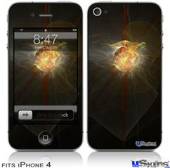 iPhone 4 Decal Style Vinyl Skin - Fireball (DOES NOT fit newer iPhone 4S)