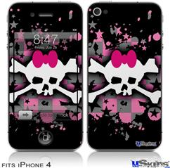 iPhone 4 Decal Style Vinyl Skin - Scene Skull Splatter (DOES NOT fit newer iPhone 4S)