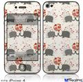 iPhone 4 Decal Style Vinyl Skin - Elephant Love (DOES NOT fit newer iPhone 4S)