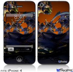 iPhone 4 Decal Style Vinyl Skin - Alien Tech (DOES NOT fit newer iPhone 4S)