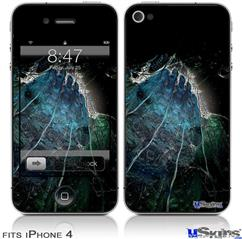 iPhone 4 Decal Style Vinyl Skin - Aquatic 2 (DOES NOT fit newer iPhone 4S)