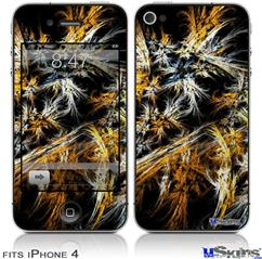 iPhone 4 Decal Style Vinyl Skin - Flowers (DOES NOT fit newer iPhone 4S)