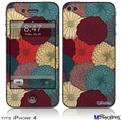 iPhone 4 Decal Style Vinyl Skin - Flowers Pattern 04 (DOES NOT fit newer iPhone 4S)