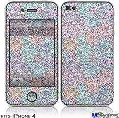 iPhone 4 Decal Style Vinyl Skin - Flowers Pattern 08 (DOES NOT fit newer iPhone 4S)