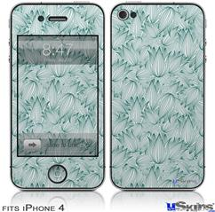 iPhone 4 Decal Style Vinyl Skin - Flowers Pattern 09 (DOES NOT fit newer iPhone 4S)