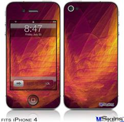 iPhone 4 Decal Style Vinyl Skin - Eruption (DOES NOT fit newer iPhone 4S)