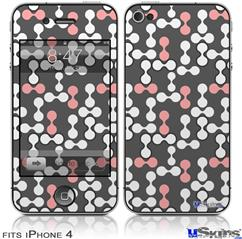 iPhone 4 Decal Style Vinyl Skin - Locknodes 04 Pink (DOES NOT fit newer iPhone 4S)