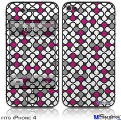 iPhone 4 Decal Style Vinyl Skin - Locknodes 05 Hot Pink (Fuchsia) (DOES NOT fit newer iPhone 4S)