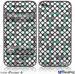 iPhone 4 Decal Style Vinyl Skin - Locknodes 05 Seafoam Green (DOES NOT fit newer iPhone 4S)