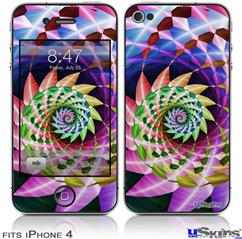 iPhone 4 Decal Style Vinyl Skin - Harlequin Snail (DOES NOT fit newer iPhone 4S)