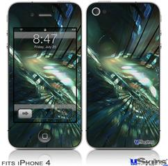 iPhone 4 Decal Style Vinyl Skin - Hyperspace 06 (DOES NOT fit newer iPhone 4S)