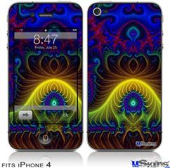 iPhone 4 Decal Style Vinyl Skin - Indhra-1 (DOES NOT fit newer iPhone 4S)