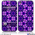 iPhone 4 Decal Style Vinyl Skin - Daisies Purple (DOES NOT fit newer iPhone 4S)