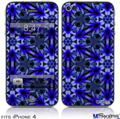 iPhone 4 Decal Style Vinyl Skin - Daisy Blue (DOES NOT fit newer iPhone 4S)