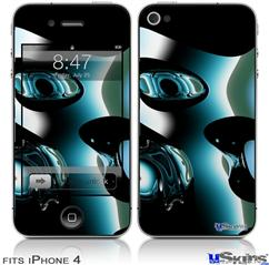 iPhone 4 Decal Style Vinyl Skin - Metal (DOES NOT fit newer iPhone 4S)