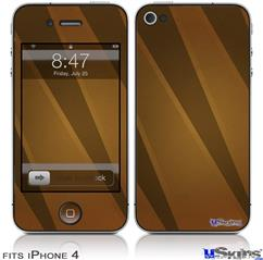 iPhone 4 Decal Style Vinyl Skin - VintageID 25 Brown (DOES NOT fit newer iPhone 4S)