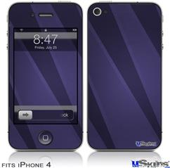 iPhone 4 Decal Style Vinyl Skin - VintageID 25 Purple (DOES NOT fit newer iPhone 4S)