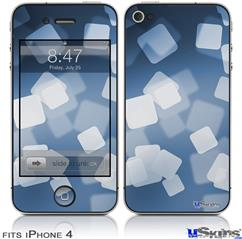 iPhone 4 Decal Style Vinyl Skin - Bokeh Squared Blue (DOES NOT fit newer iPhone 4S)