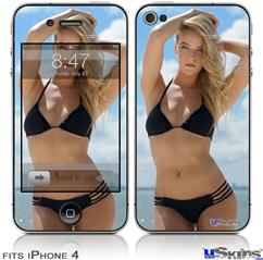 iPhone 4 Decal Style Vinyl Skin - Kayla DeLancey Black Bikini 1 (DOES NOT fit newer iPhone 4S)