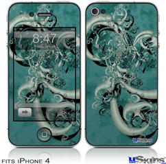 iPhone 4 Decal Style Vinyl Skin - New Fish (DOES NOT fit newer iPhone 4S)