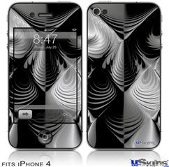 iPhone 4 Decal Style Vinyl Skin - Positive Negative (DOES NOT fit newer iPhone 4S)