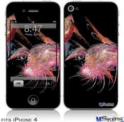 iPhone 4 Decal Style Vinyl Skin - Pink Flamingos (DOES NOT fit newer iPhone 4S)