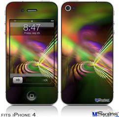 iPhone 4 Decal Style Vinyl Skin - Prismatic (DOES NOT fit newer iPhone 4S)