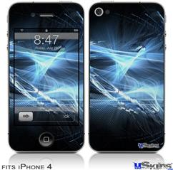 iPhone 4 Decal Style Vinyl Skin - Robot Spider Web (DOES NOT fit newer iPhone 4S)