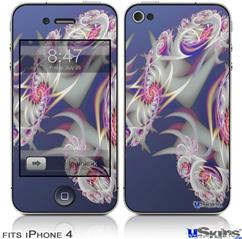 iPhone 4 Decal Style Vinyl Skin - Rosettas (DOES NOT fit newer iPhone 4S)