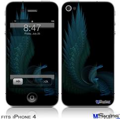 iPhone 4 Decal Style Vinyl Skin - Sea Dragon (DOES NOT fit newer iPhone 4S)