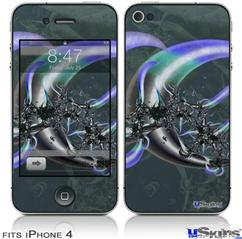 iPhone 4 Decal Style Vinyl Skin - Sea Anemone2 (DOES NOT fit newer iPhone 4S)