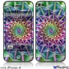 iPhone 4 Decal Style Vinyl Skin - Spiral (DOES NOT fit newer iPhone 4S)