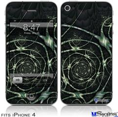 iPhone 4 Decal Style Vinyl Skin - Spirals2 (DOES NOT fit newer iPhone 4S)