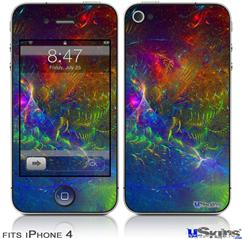 iPhone 4 Decal Style Vinyl Skin - Fireworks (DOES NOT fit newer iPhone 4S)