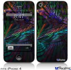 iPhone 4 Decal Style Vinyl Skin - Ruptured Space (DOES NOT fit newer iPhone 4S)