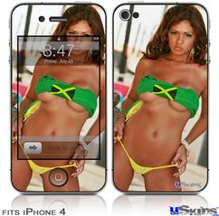 iPhone 4 Decal Style Vinyl Skin - Joselyn Reyes 001 (DOES NOT fit newer iPhone 4S)