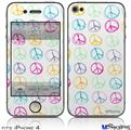 iPhone 4 Decal Style Vinyl Skin - Kearas Peace Signs (DOES NOT fit newer iPhone 4S)