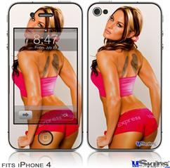 iPhone 4 Decal Style Vinyl Skin - Kasie Rae - Express Yourself (DOES NOT fit newer iPhone 4S)